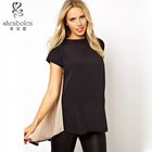 M2130 maternity clothing simple design customize eco-friendly fabric pleated back top for pregnant
