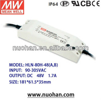 Meanwell 80w 48V led driver Switching Power Supply dimmable led driver pfc