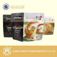 Printed stand up bag/food boiling plastic bag/microwave food packaging