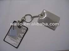 square size pvc led keyring flashing keychain portable reflective pvc gifts promotional gifts