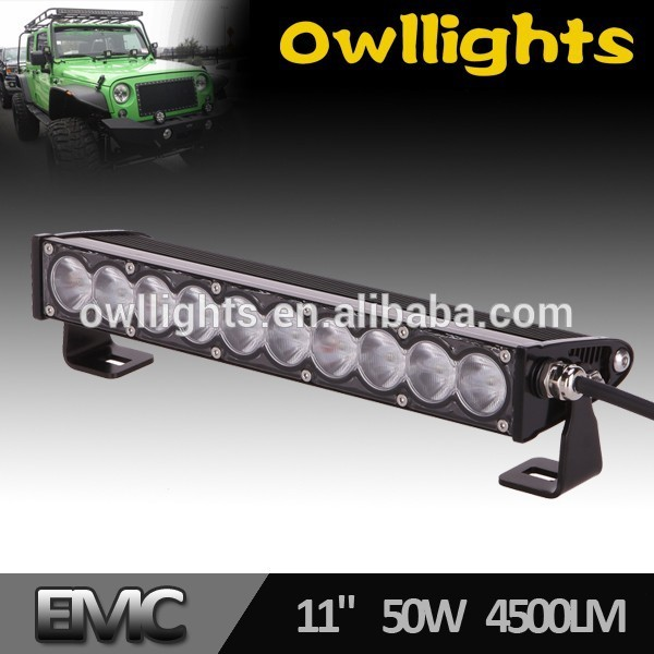 Super Power 4x4 LED Light Bar 50W LED Spot Headlight 11 Inch Off Road LED Driving Light Bar Auto Car Accessories for Car