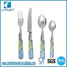 Transparent handle, useful plastic travel cutlery case
