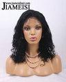 Kelly rowland sexy rizado rizado corto personalizado rizado pelucas negro para las mujeres, cabello humano de malasia rizado rizado pelucas llenas del cordón