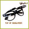 OEM CE Neon Black Unisex Flip Up Sport Sun glasses Named Flip Up Sunglasses