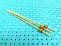 Saudável e tradicional espetos de bambu descartáveis, fácil de usar e olhar extravagante vara de bambu para churrasco ou spearing pedaços da fruta