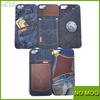 Jeans design cell phone case for iPhone 5s