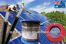TUV 2 PfG 1169/08.2007 PV1-F Solar Farm Wire 4mm /Solar PV Wire 100meters/roll Red and Black
