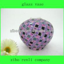 contador teal decoración hecha a mano de cristal manchado adornos singular arreglos florales en florero de vidrio