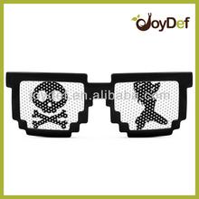 2014 Hot Pixel CPU Gamer Geek Designer Black Sunglasses Pixelated 8-bit Black Sun glasses
