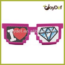Retro 8 Bit Pixel Pixelated Custom Logo Printed Pinhole Sunglasses Glasses Geek Nerd Computer