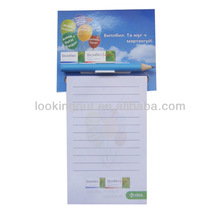 tailor-make advertising specialty fridge magnet note pad