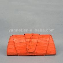 genuine Crocodile long clutch bag_crocodile wrap bags_croco folder ag_caiman crocodile clutch bag