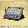 Easy carry genuine leather cover for new ipad smart cover 2014
