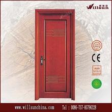 Interior de ingeniería rojo roble puerta de madera de diseño