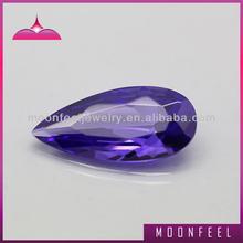 pear cz violet amethyst gemstone
