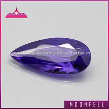 pear shape violet cubic zirconia