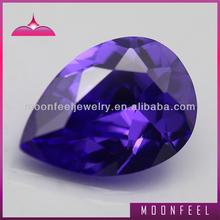 5A pear violet purple cz stone
