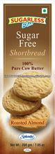 Sugar Free Roasted Almond Shortbread Cookies