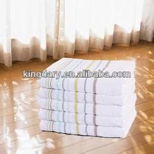 White Color 100% Cotton Baby Bath Towel High Thread Terry