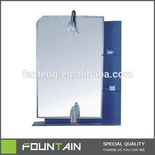 Bathroom Mirror with Shelf Silver Dresser Mirror Decor Hanging Wall Mirror