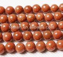 10mm gold sand stone drilled man made gemstones
