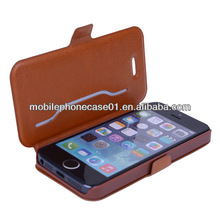 2014 high quality leather phone case for iphone 5