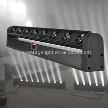 8 x 10W moving head cree led white beam