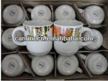 newly developed and design ceramic white coffee mug and tea cup ICHIMATSU cup