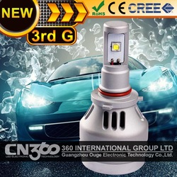 2014 New all in one led headlight h4-hi/lo 30w 3000lumen all in one heat dissipation car led headlight