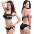 Model DM055 HOT Wholesale 11 COLORS Tie-Front Triangle TOP 2014 Swimwear VS Bikini