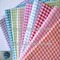 De alta calidad 100% cuadros de algodón tejido uniforme escolar