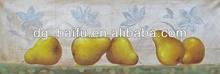 modern art still life yellow pear fruit oil painting