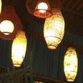 De madera que cuelga con linternas led vela&