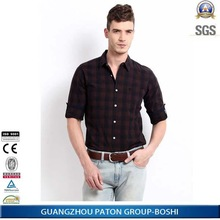 2014 latest long sleeve plaids pattern men's casual shirts, custom designs welcome