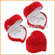 Wedding bands box Heart shape ring box
