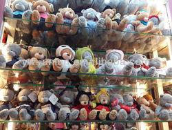 yiwu factory sale plush bear toy grey teddy bear toys cheaper grey soft teddy bear small mini grey bear