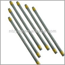 1770 n/mm2 cavetti di acciaio per palestra, 0.8-42mm ungalvanized fune di acciaio zincato