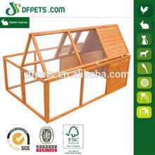 DFPets DFR023 Wooden Rabbit Run Cage