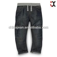 2015 Boy's blue monkey patch jeans wholesale clothing JXZ063