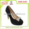 Elegant removable decorative shoe clip for wedge heel