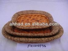 oval wicker tray / wicker serving tray / Christmas fruit tray