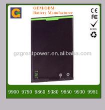 1400Mah high quality cell phone battery for blackberry JM1 9900 9790