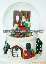 resin crystal ball for christmas
