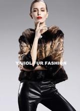 mk14260 2014 new Genuine beautiful short mink fur coat