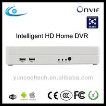 Onvif standalone h.264 4ch DVR cctv security