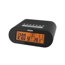 New Digital Radio Alarm Clock with Indoor Temperature Monitor