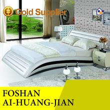 Modern leather bed, genuine leather Modern beds, lastest design beds