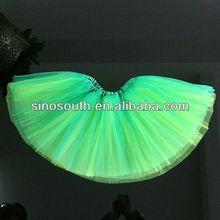 Christmas girls green ballet tutu tulle skirt for both sides to wear girls tutu