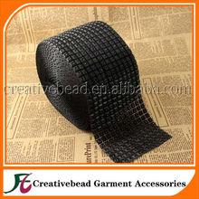 wholesale black plastic pyramid rhinestone mesh trimming garment accessories rhinestone trim