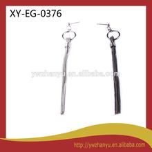 new fashion iron line tassel pendant stud earrings